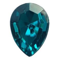 13mm x 18mm OCEAN BLUE Teardrop Shape Acrylic Embellishment Gems